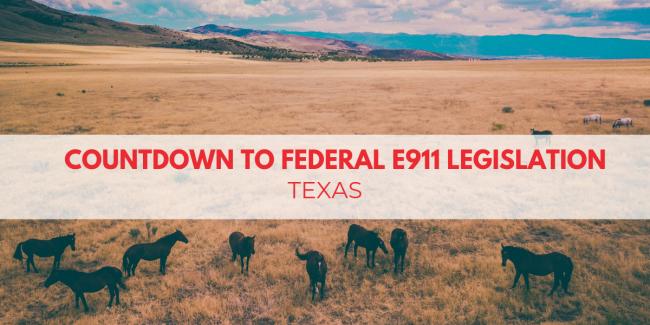 Countdown To Federal E911 Legislation: Texas