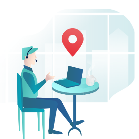 Track the location of remote workers using softphones