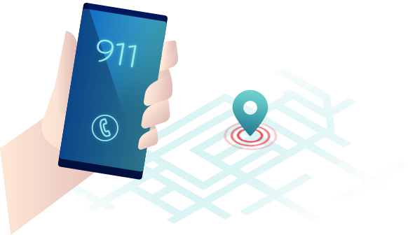Locate 911 calls  from smartphones